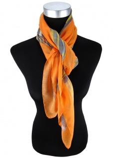Halstuch in orange lachs gelb blau mint grau gemustert - Größe 100 x 100 cm