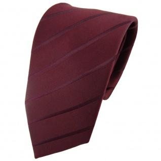 Designer Seidenkrawatte braun bordeauxbraun gestreift - Krawatte Seide Binder