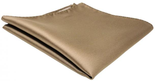 schönes TigerTie Einstecktuch in braun goldbraun einfarbig - Tuch 100% Polyester