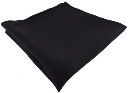 Einstecktuch handrolliert schwarz einfarbig Uni - 100% Seide - Gr. 30 x 30 cm