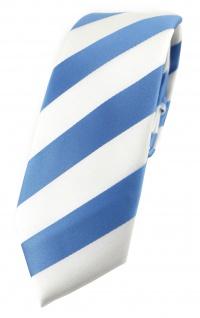 TigerTie - schmale Krawatte in blau weiss gestreift