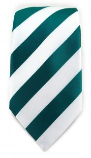 TigerTie Designer Krawatte in petrol weiss gestreift - Vorschau 2
