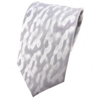 Hochzeit Seidenkrawatte silber gescheckt Uni - Krawatte 100% reine Seide
