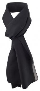 Damen Chiffon Halstuch schwarz silber gestreift Gr. 165 cm x 40 cm - Tuch Schal
