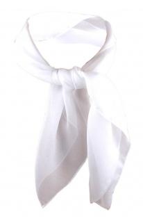 TigerTie Damen Chiffon Nickituch weiß Gr. 50 cm x 50 cm - Tuch Halstuch Schal
