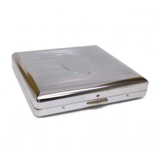 Zigaretten Etui Metall - Spangen Farbe silber verchromt - Zigarettenetui