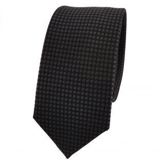 Schmale TigerTie Seidenkrawatte anthrazit schwarz gepunktet - Krawatte Seide