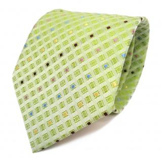 Designer Krawatte grün hellgrün gelbgrün farbig gemustert - Schlips Binder Tie