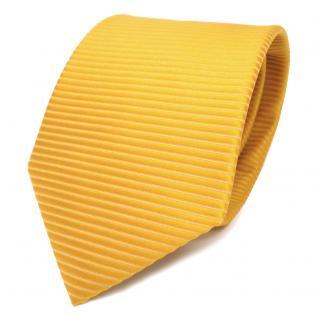TigerTie Designer Krawatte gelb goldgelb sonnengelb gestreift - Krawatte Binder