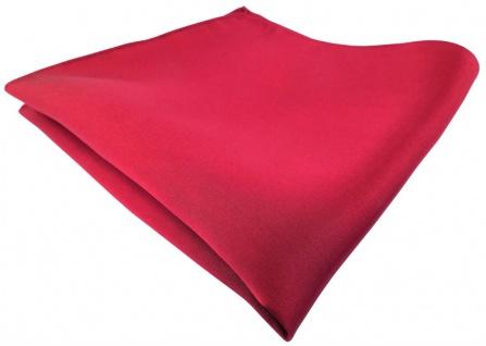 TigerTie Satin Seideneinstecktuch in rot einfarbig - Einstecktuch 100% Seide
