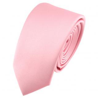 Schmale TigerTie Satin Krawatte rosa Uni - Schlips Binder Tie