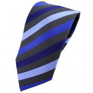 TigerTie Krawatte blau dunkelblau hellblau anthrazit gestreift - Tie Binder