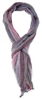 TigerTie Schal in lila rosa grau lachs flieder weiss gestreift - Gr. 180 x 50 cm