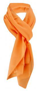 TigerTie Damen Chiffon Halstuch orange lachs Uni Gr. 160 cm x 36 cm - Schal