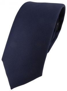 Modische TigerTie Designer Krawatte in marine dunkelblau fein gepunktet