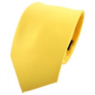 TigerTie Krawatte gelb hellgelb zinkgelb einfarbig 100 % Polyester - Binder Tie