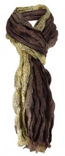 edler Schal in braun gold schwarz gemustert - Schalgröße 180 x 100 cm