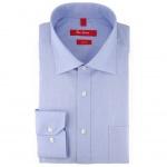 Ben Green Herrenhemd hellblau Uni langarm bügelfrei - New-Kent-Kragen Hemd Gr.42