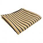 TigerTie Einstecktuch gold schwarz weiß gestreift - Tuch Polyester