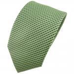 Hennes cologne Designer Seidenkrawatte grün silber gepunktet - Krawatte Seide Tie
