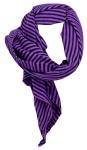 Halstuch in lila schwarz gestreift - Halstüchgröße 90 x 90 cm