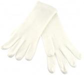 feine Strickhandschuhe in creme weiss Uni - Damen Handschuhe Größe M