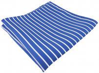 schönes TigerTie Einstecktuch in blau hellblau azurblau weiß gestreift