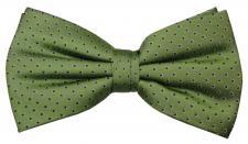 Designer Seidenfliege grün maigrün blau gepunktet - Fliege Seide Silk