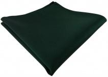 schönes gewebtes Einstecktuch in grün dunkelgrün einfarbig Uni - Tuch 100% Seide