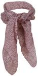 Damen TigerTie Nickituch in rosa grau - Halstuch 100% Seide - 50 x 50 cm