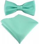 SET Kleinkinder Baby Fliege in grün mint mit Gummizug + Einstecktuch + Box
