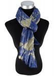 Raffschal in blau beige gemustert - Schal Größe 180 x 100 cm