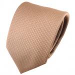 schöne feine TigerTie Designer Krawatte goldbraun bronze uni gemustert - Tie Binder