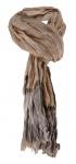 Raffschal in braun beige grau gemustert - Schal Größe 190 x 80 cm