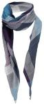 Dreieckstuch in türkis lila anthrazit weiß kariert mit Tusseln - Gr. 150 x 75 cm