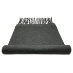 TigerTie Schal in grau mittelgrau Uni 100 % Polyacryl / Cashmink 30cm x 180cm