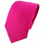 TigerTie Designer Krawatte in pink rosa einfarbig Uni