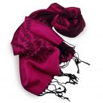 Schal in pink telemagenta schwarz gemustert Gr. 175x68 cm - 100% Viskose