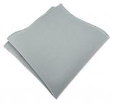 TigerTie Einstecktuch aus 100% Baumwolle in grau Uni - Einstecktuch 26 x 26 cm