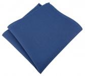 TigerTie Einstecktuch aus 100% Baumwolle in dunkelblau - Einstecktuch 26 x 26 cm