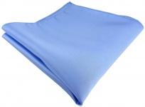 TigerTie Satin Seideneinstecktuch in blau einfarbig - Einstecktuch 100% Seide