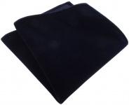 TigerTie Designer Baumwollsamt Einstecktuch in schwarzblau Uni - 100% Baumwolle