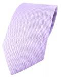 TigerTie Designer Krawatte Pique in flieder gemustert - 100% Baumwolle