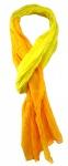 gecrashter TigerTie Schal in gelb orange unicolor gemustert - Größe 180 x 50 cm