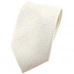 Hochzeit Seidenkrawatte creme kleine vierecke Uni - Krawatte 100% reine Seide