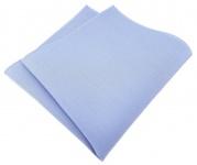 TigerTie Einstecktuch aus 100% Baumwolle in blau Uni - Einstecktuch 26 x 26 cm