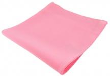 TigerTie feines Seideneinstecktuch in rosa Uni - Einstecktuch 100% pure Seide