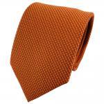 Seidenkrawatte orange schwarz karostruktur - Tie Krawatte 100% Seide Silk