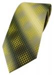 TigerTie Designer Krawatte in gelb gold silber grau schwarz kariert