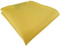 TigerTie Satin Einstecktuch in gelbgold einfarbig Uni - Größe 26 x 26 cm